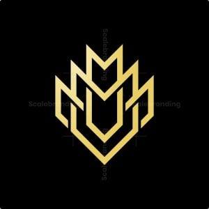 Luxury Letter M Shield Logo