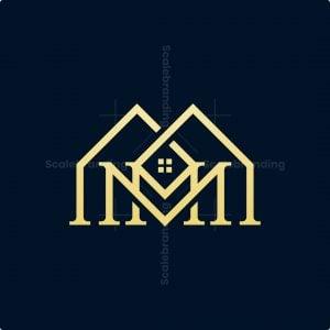Luxury Mm Letter Mansion Logo