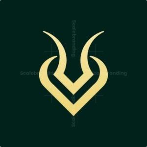 Luxury Minimalist Impala Horn Logo