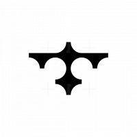 Minimalist Bird Flying Logo