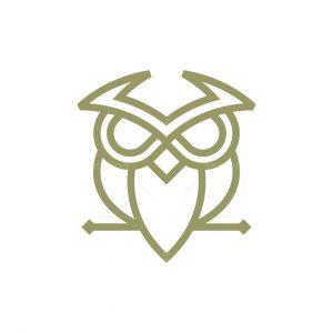 Minimalist Owl Logo