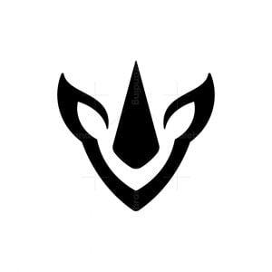 Minimalist Rhino Horn Logo