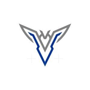 Minimalist V Bird Logo