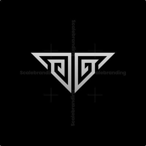 Modern Gg Letter Monogram Logo