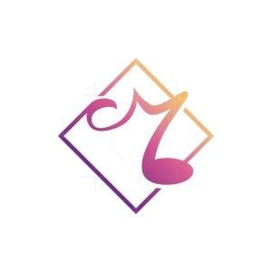 Music Note M Letter Logo
