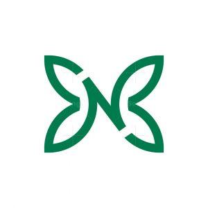N Butterfly Logo