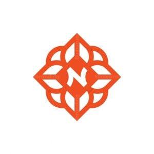 Letter N Flower Logo