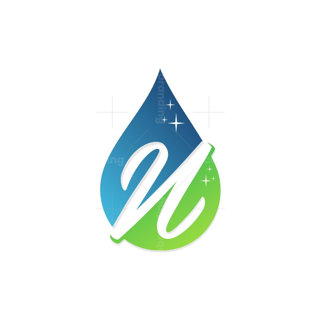 Letter N Drop Clean Logo