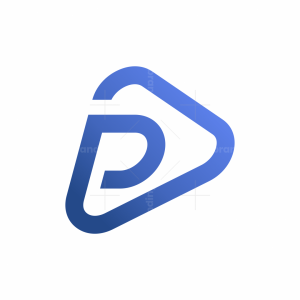 P Play Button Logo