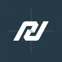 Letter Pn Or Rn Logo