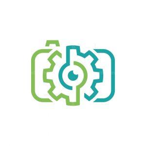 Photo Technology Gear Line Logo