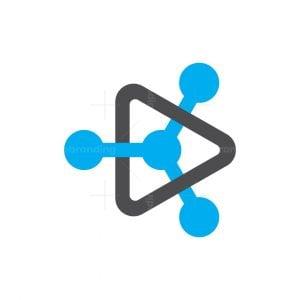 Play Button Technology Logo