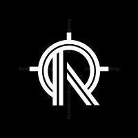 Letter R Target Monogram Logo