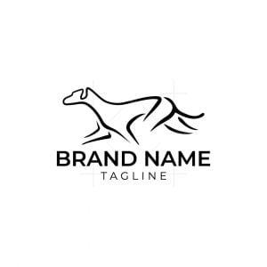 Simple Dog Line Logo
