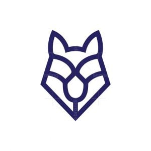 Simple Wolf Logo
