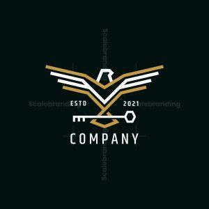 Stylish Eagle Key Logo