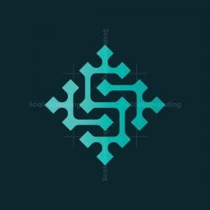 Stylized Pixel S Logo