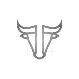 Initial T Toro Or Bull Logo