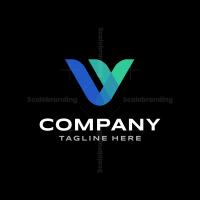 V Modern Logo