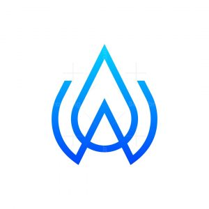 W Or A Letter Drop Logo