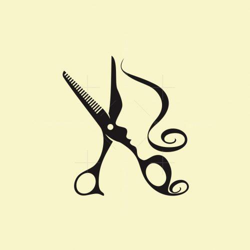 Woman Scissors Logo