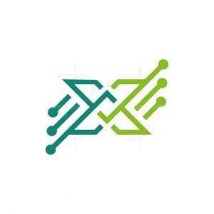 X Digital Letetr Logo