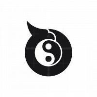 Yin Yang Eagle Logo