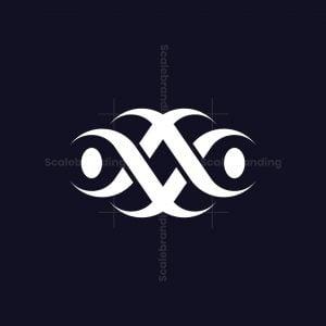 Abstract Tribal Av Or Va Logo