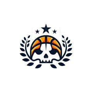 Basketball Skull Logo