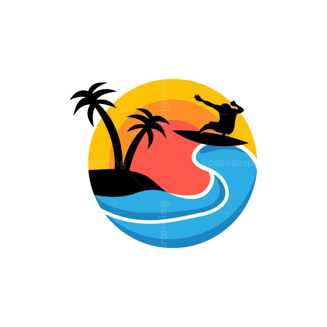 Beach Surf Nature Logo