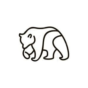 Bear Line Simplicity Logo