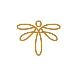 Beauty Gold Dragonfly Logo