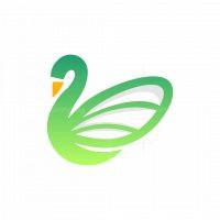 Beauty Swan Simple Logo