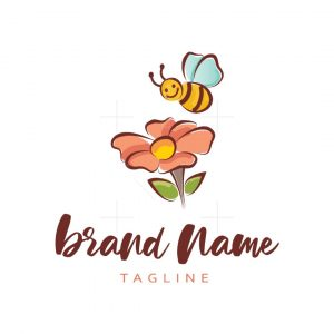 Bee Flower Logo