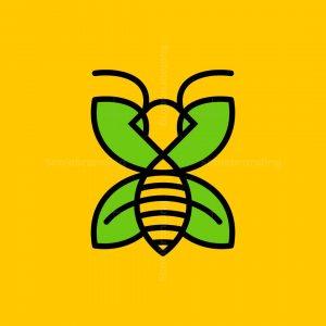 Bee Leaf Line Logo