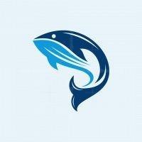Big Whale Silhouette Logo