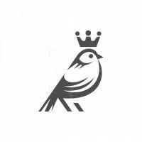 Bird Crown Vector Logo