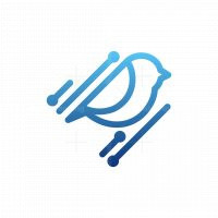 Bird Network Modern Logo