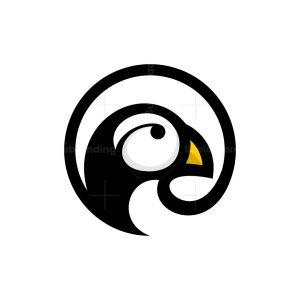 Bird Puffin Circle Logo
