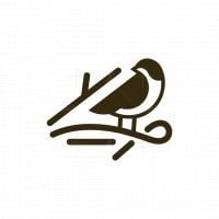 Bird Twig Simple Logo
