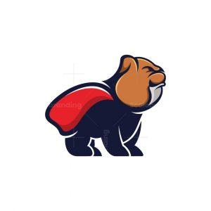 Bulldog Superhero Mascot Logo