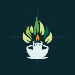 Candle Leaf Nature Logo