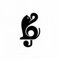Cat Note Musical Logo