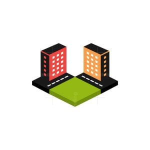 City Isometric 3d Logo