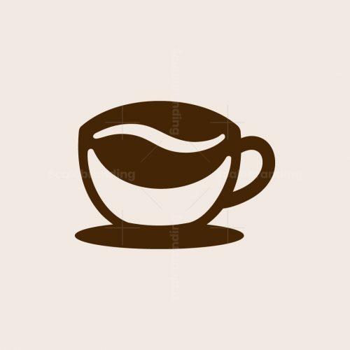 Bean Coffee Cup Logo