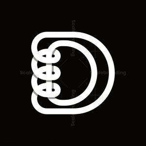 Coil Letter D Logo