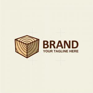 Cube Wood Love Logo