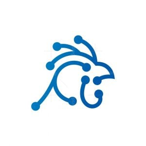 Technology Rooster Logo Cyber Rooster Logo