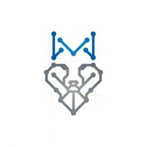 Royal Technology Wolf Logo Cyber Wolf Logo