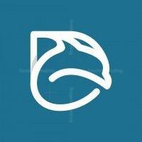 Letter D Dolphin Monogram Logo